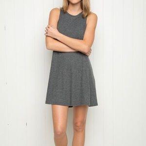 Brandy Melville Talulah Gray Ribbed Tank Dress-OS
